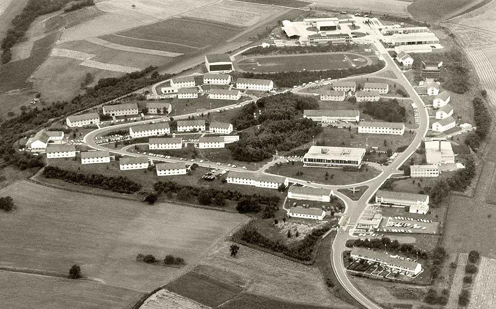 Luftbild der Dörndich Kaserne Ende 1970. Foto: Paul Bregenzer.