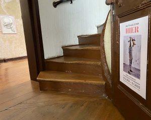 Eingangstür zum Salon im Fürstenwärther Hof. Foto: Simone Mager