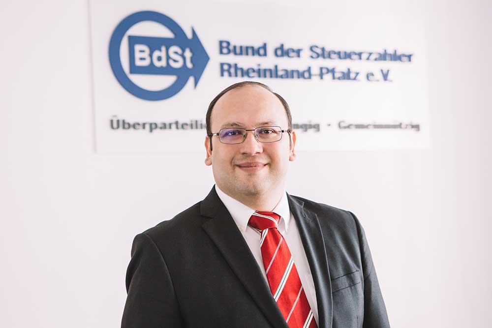 René Quante, Geschäftsführer des Steuerzahlerbundes Rheinland-Pfalz. Foto: Steuerzahlerbund.